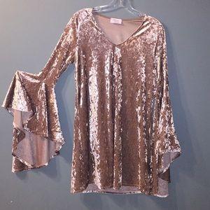Faux Velvet Dress